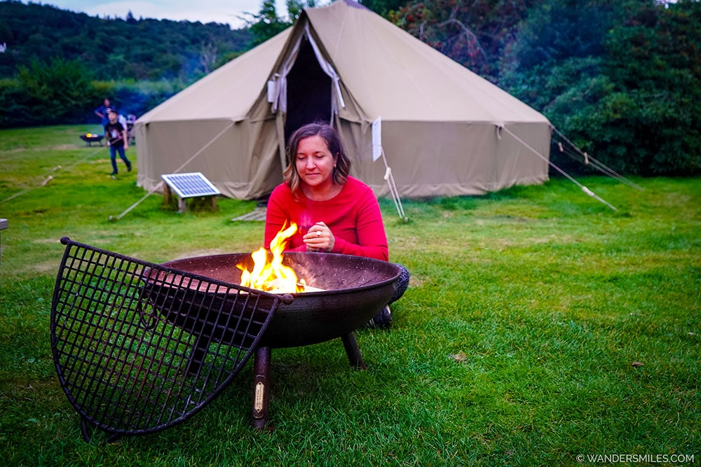 BBQ Fire Pit at the Bell Tent - Glamping at YHA Hawkshead