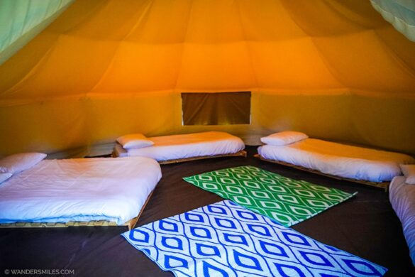 Inside the Bell Tents at YHA Hawkshead