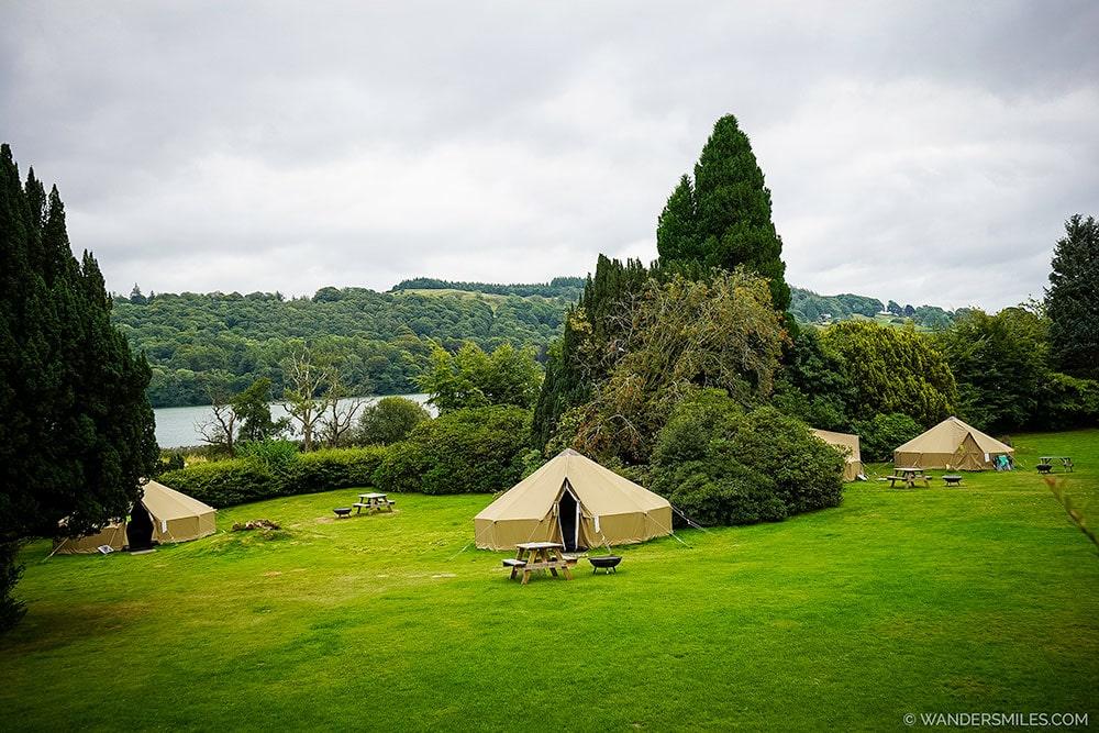 Bell tents at YHA Hawkshead