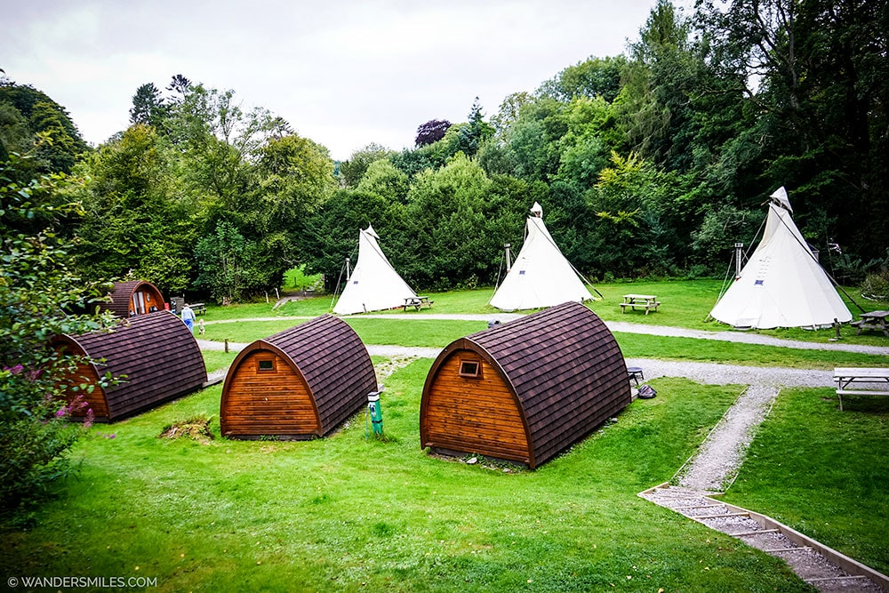 Tipis and Camping Pods at YHA Hawkshead, Lake District
