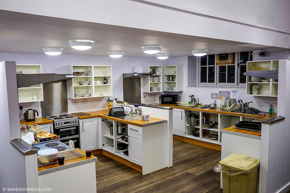 Self catering kitchen at YHA Hawkshead